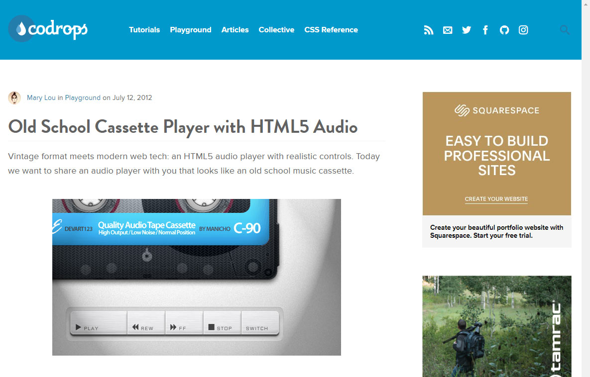 The best HTML5/javascript Audio and Video Players | Web