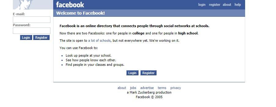 facebook en 2006