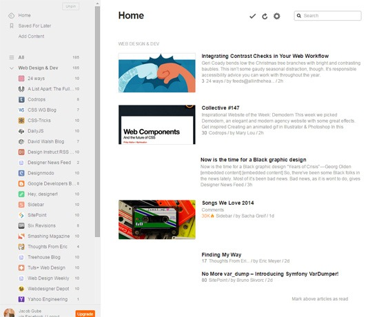 Best 9 Free Rss Readers | Web Design and Web Development news