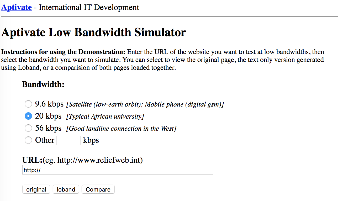 simulator of what it was like to surf the Internet in 1995