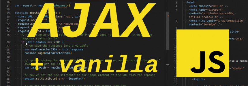 Making AJAX requests to a REST API using vanilla JavaScript and XHR -