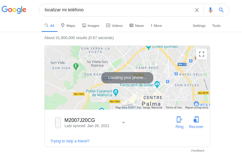 google search features example